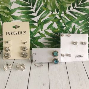 🌸 3/$25 Silver earring bundle, 9 pieces